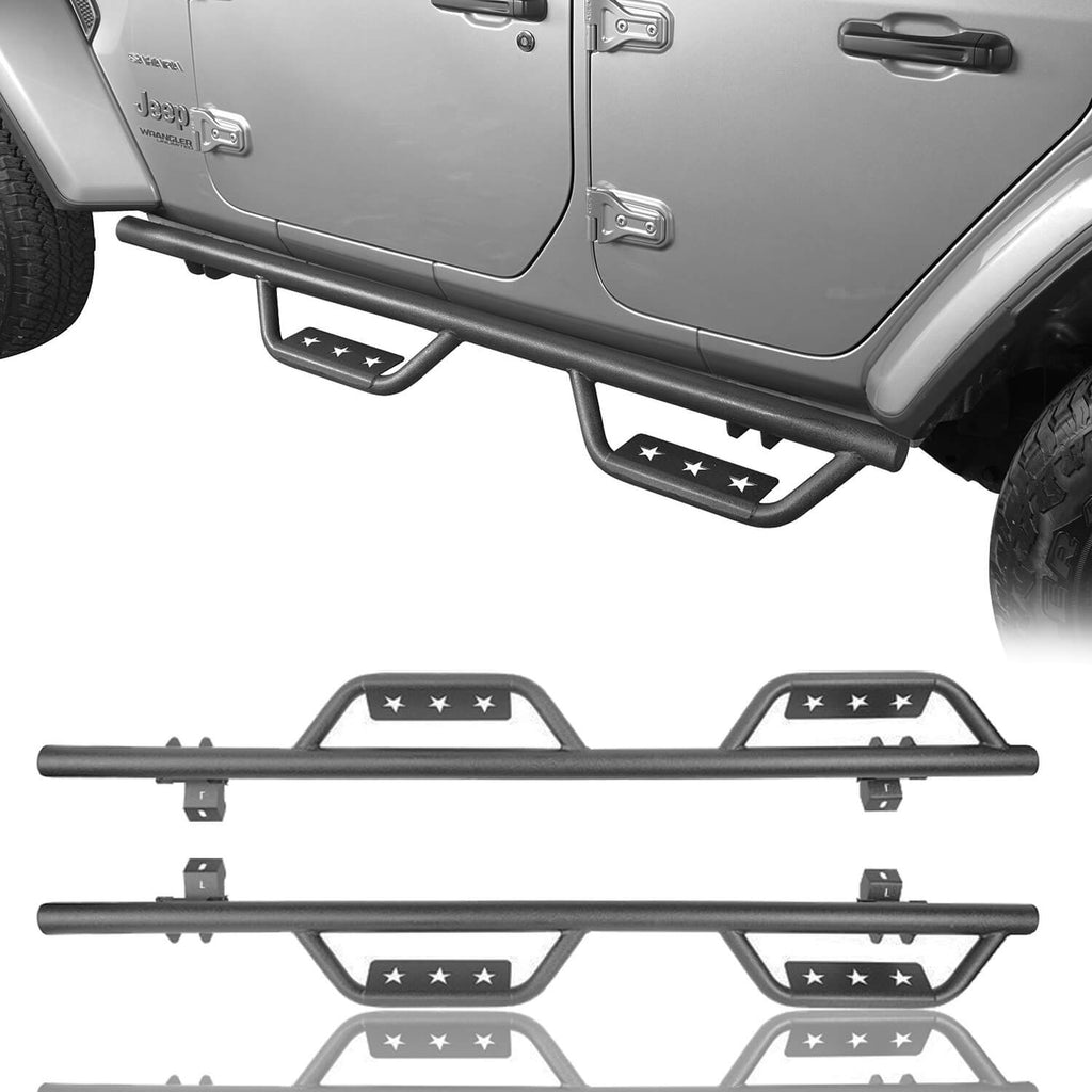 Jeep JL Side Steps Running Boards Nerf Bars for Jeep Wrangler JL 2018-2019 BXG507  1