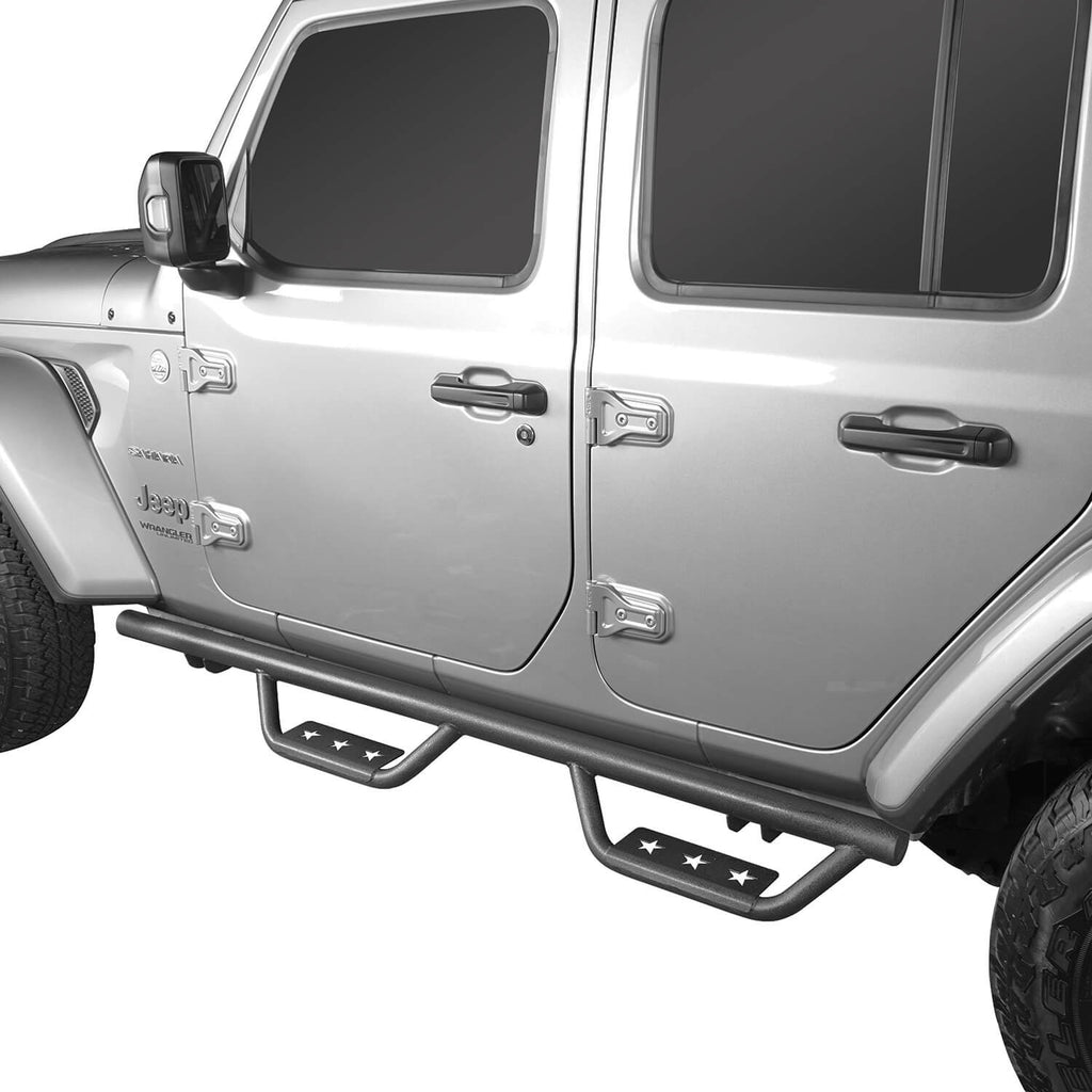 Jeep JL Side Steps Running Boards Nerf Bars for Jeep Wrangler JL 2018-2019 BXG507  2