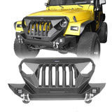 Ultralisk 4x4 Mad Max Front Bumper w/Grille Guard & Winch Plate(97-06 Jeep Wrangler TJ)