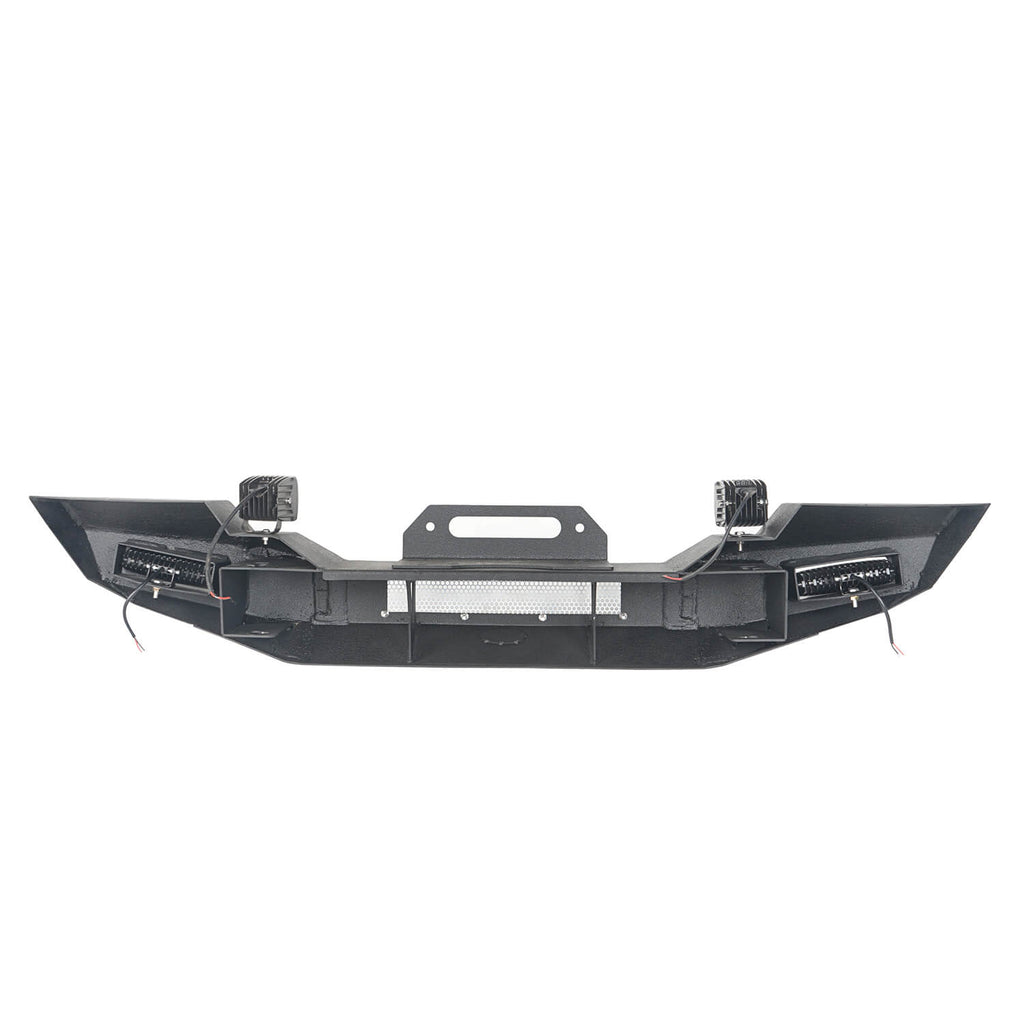 Jeep TJ Front Bumper with Winch Plate and LED Spotlights Climber Front Bumper for Jeep Wrangler TJ 1997-2006 BXG215 Jeep Bumpers Offroad 8