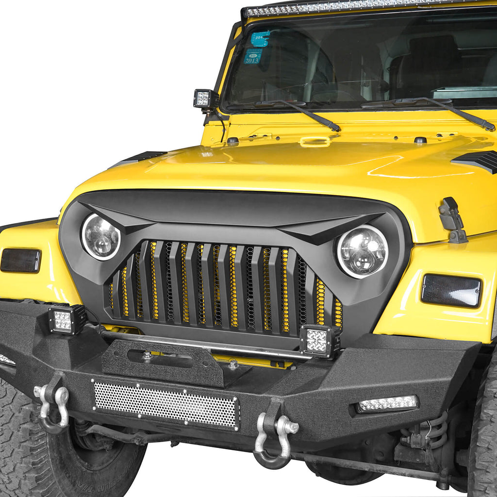 Jeep Grille Cover Jeep TJ Vader Grill for 1997-2006 Jeep Wrangler TJ MMR0276 1