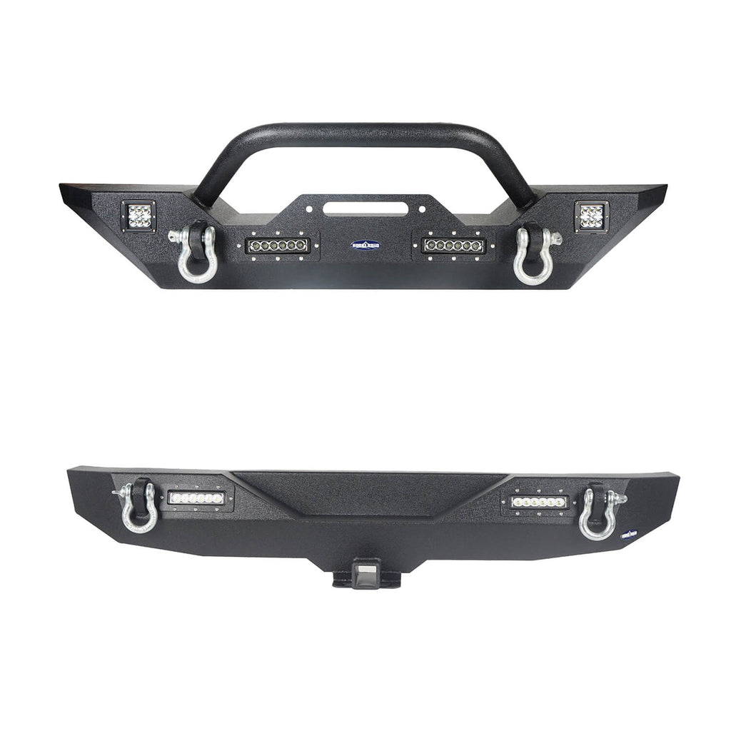 Jeep JK Front & Rear Bumper Combo Jeep Wrangler JK Bumpers for 2007-2018 Jeep Wrangler JK Jeep JK Parts 2