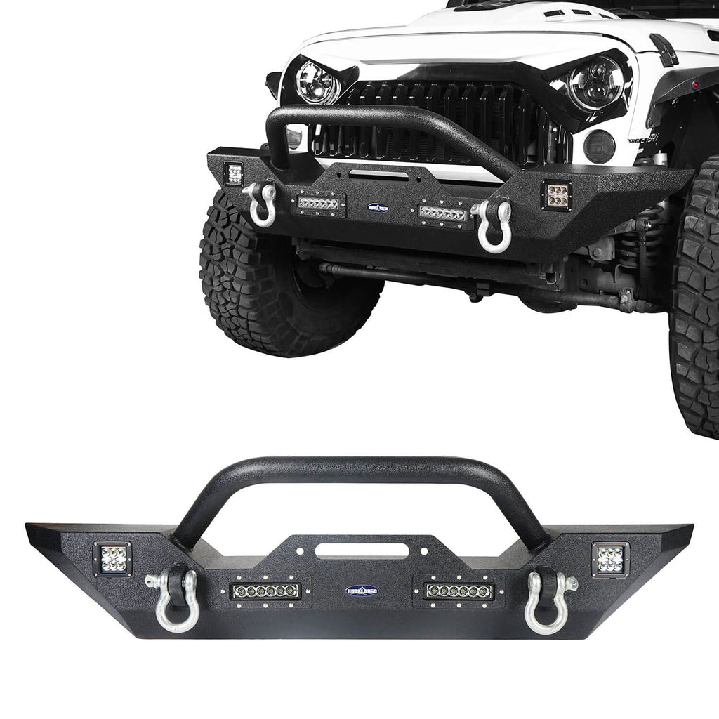 Jeep JK Front & Rear Bumper Combo Jeep Wrangler JK Bumpers for 2007-2018 Jeep Wrangler JK Jeep JK Parts 3
