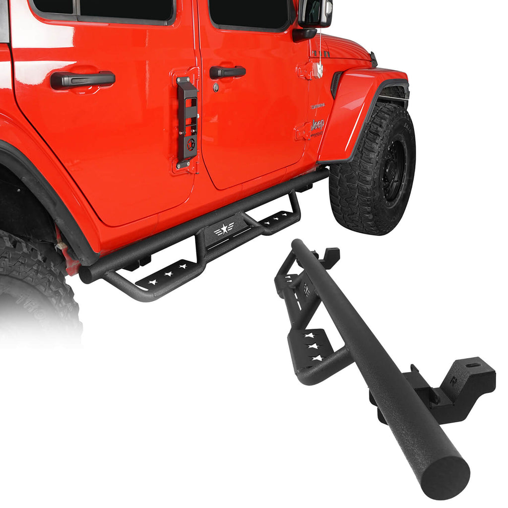 Jeep Wrangler JL Side Steps Jeep Wrangler JL Running Boards Nerf Bars for Jeep Wrangler JL 2018-2020 BXG3005-1 1