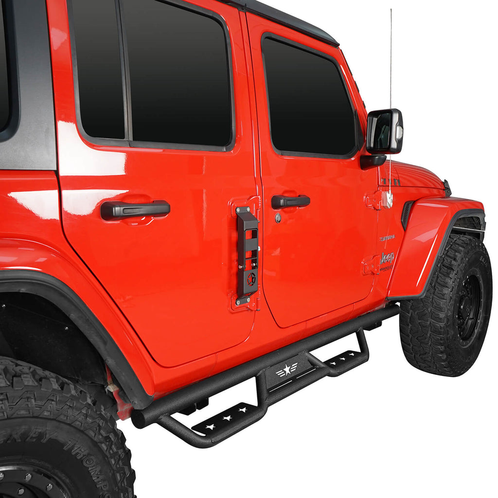 Jeep Wrangler JL Side Steps Jeep Wrangler JL Running Boards Nerf Bars for Jeep Wrangler JL 2018-2020 BXG3005-1 2