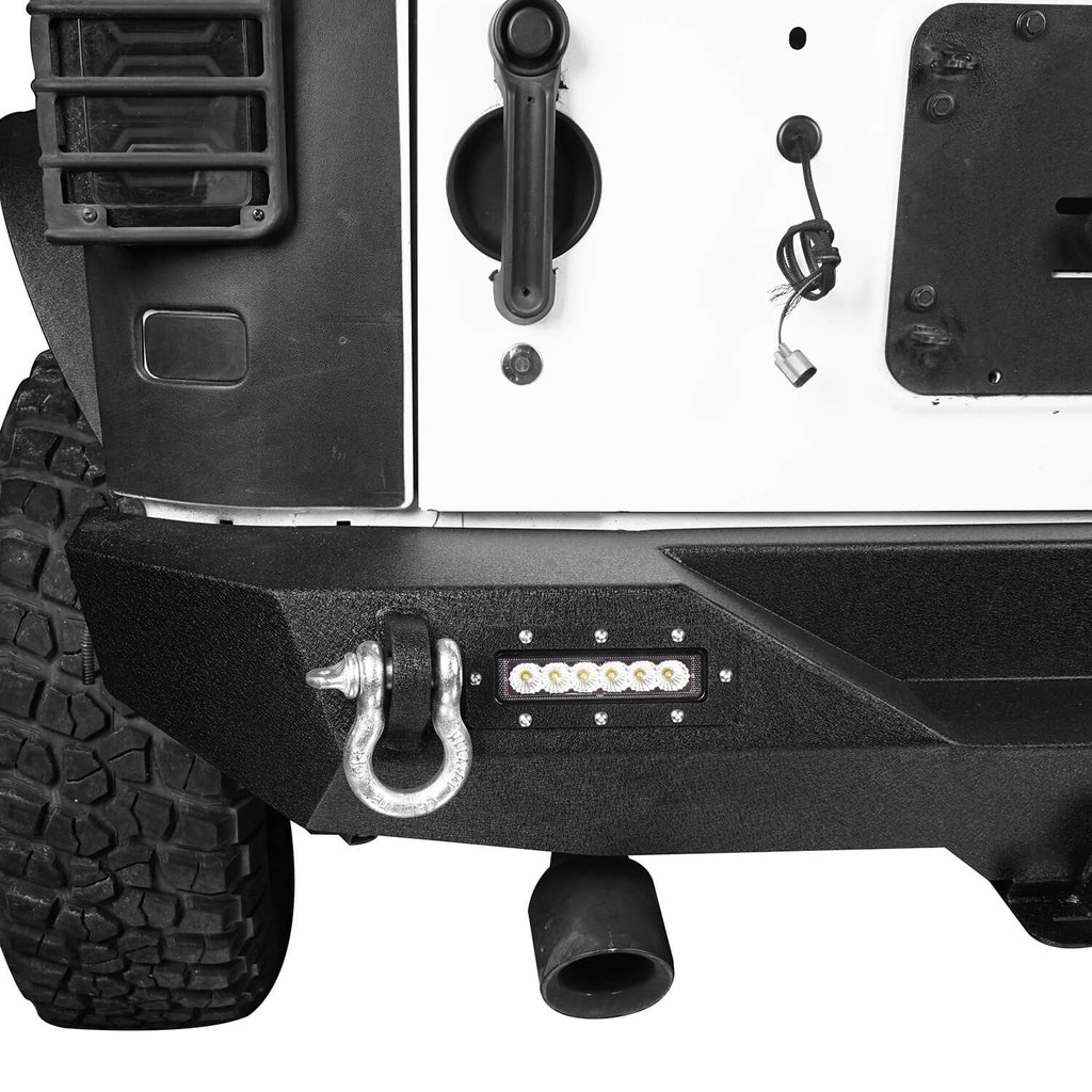 Opar Lotus Tubular Front Bumper & Different Trail Rear Bumper Combo Kit for 2007-2018 Jeep Wrangler JK JKU BXG132116 u-Box offroad 11