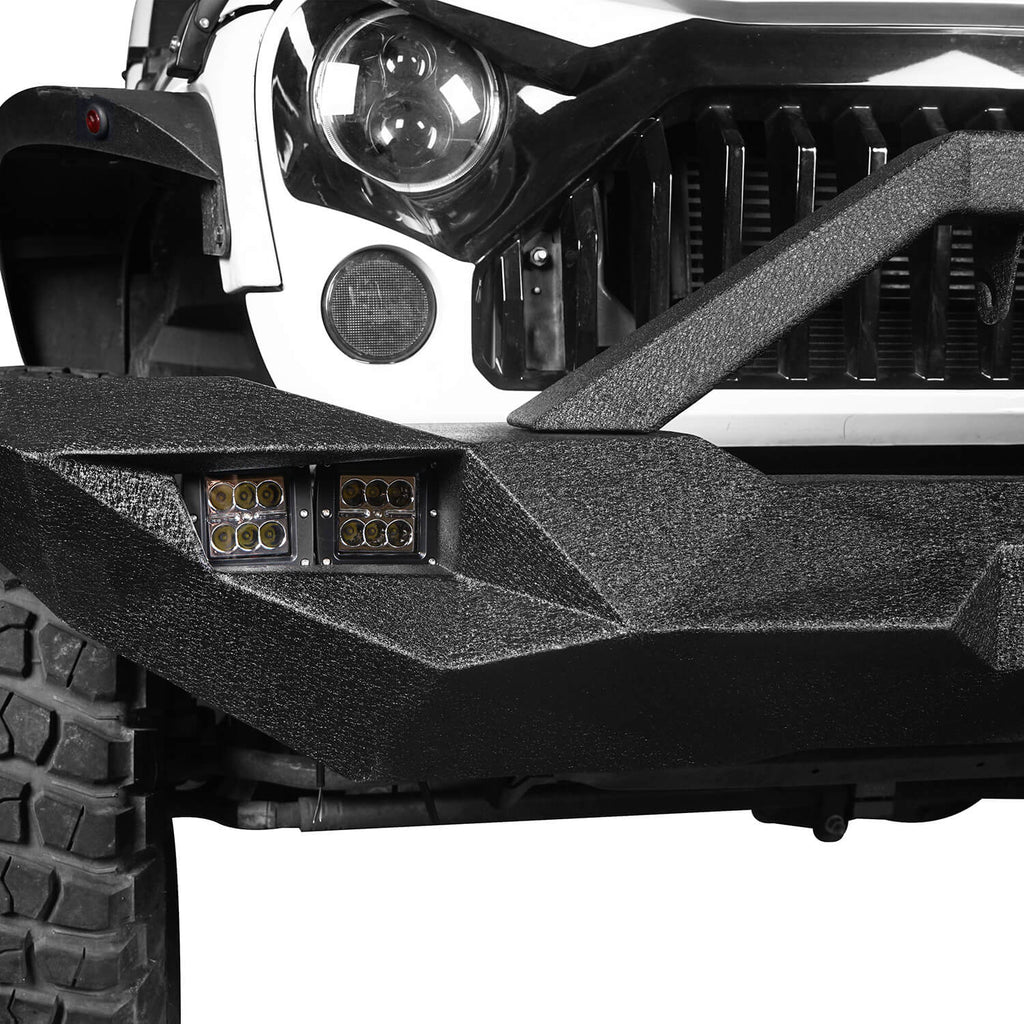 Blade Master Full Width Front Bumper w/Winch Plate & License Plate for 2007-2018 Jeep Wrangler JK BXG090 4