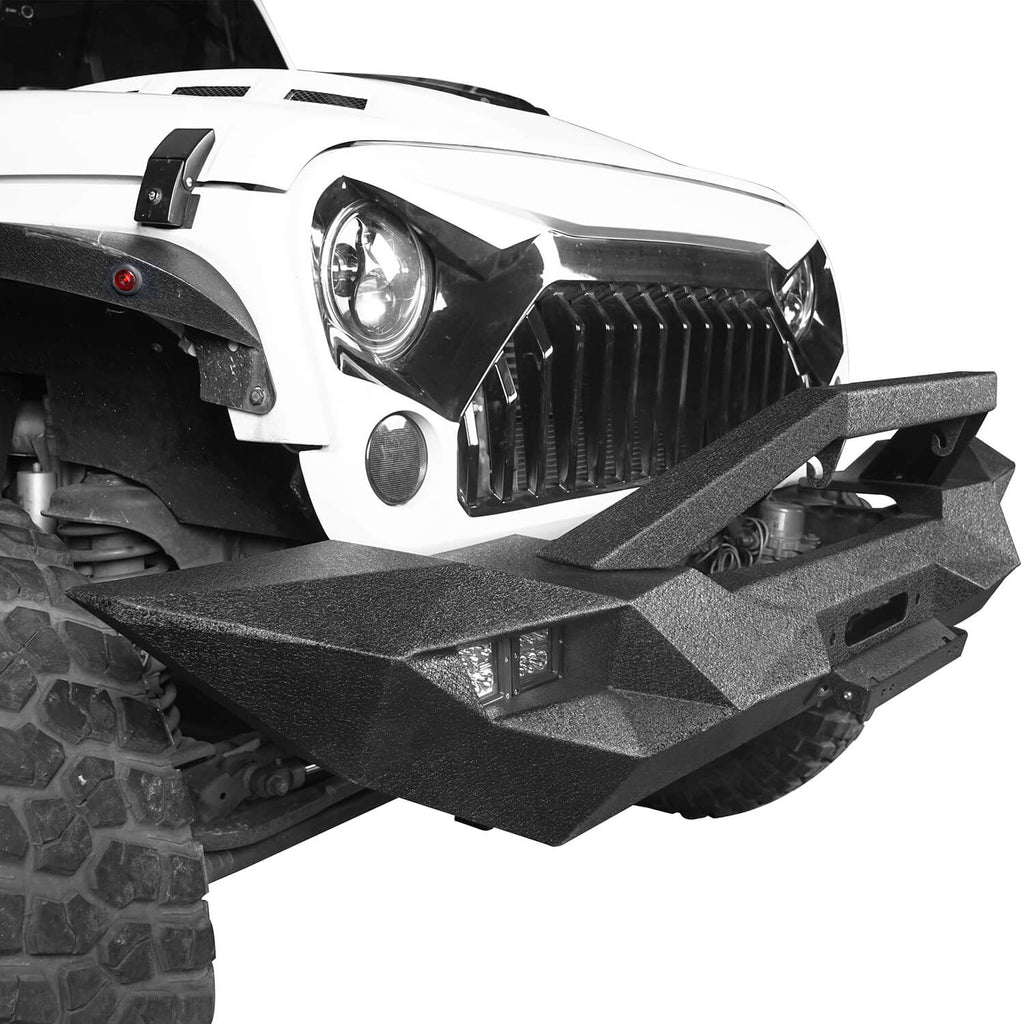 Blade Master Full Width Front Bumper w/Winch Plate & License Plate for 2007-2018 Jeep Wrangler JK BXG090 5