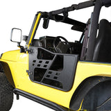 Rock Crawler Tubular Door Guards with Mirrors for 1997-2006 Jeep Wrangler TJ BXG092MMR10016 3