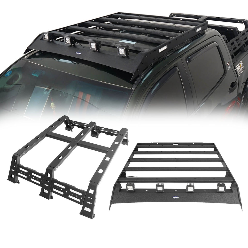 Roof Rack Luggage Cargo Carrier & 12.9 inch High Bed Rack(07-13 Toyota Tundra Crewmax)