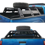 Roof Rack Luggage Cargo Carrier & 11.7Inch High Bed Rack(05-21 Toyota Tacoma)
