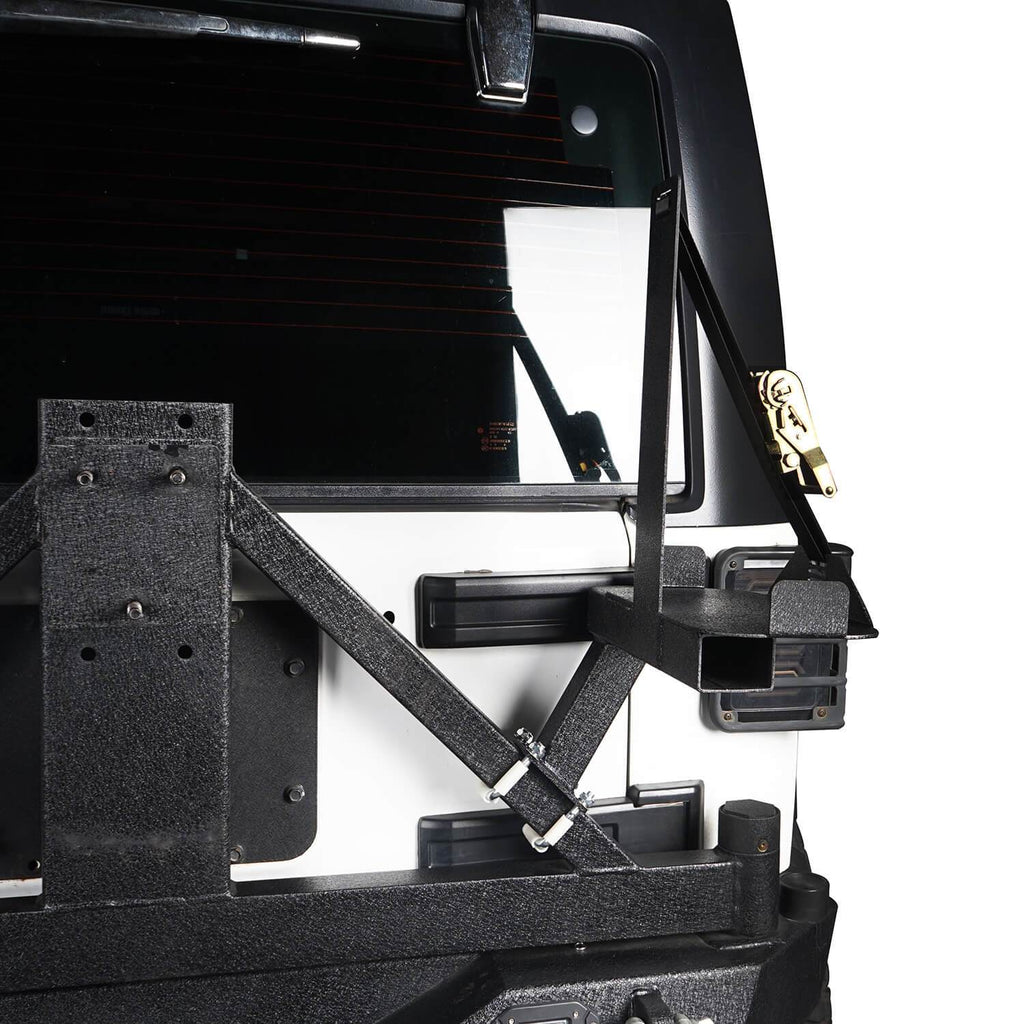 5.3 Gallon Jerry Can Mount Spare Tire Jerry Can Holder for 2007-2018 Jeep Wrangler JK 4