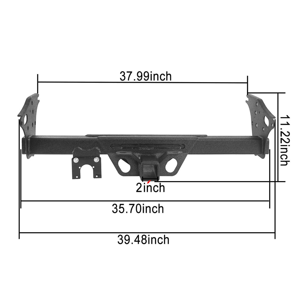 Toyota Tacoma Receiver Hitch w/2 inch Square Receiver Opening for 2005-2015 Toyota Tacoma u-Box Offroad 8
