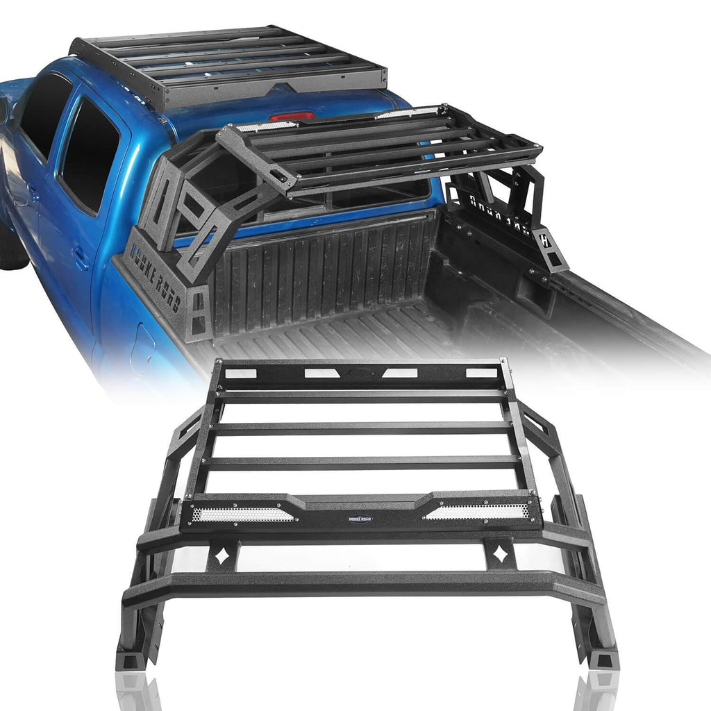 Ultralisk 4x4 Metal Roll Bar Bed Rack(05-21 Toyota Tacoma)