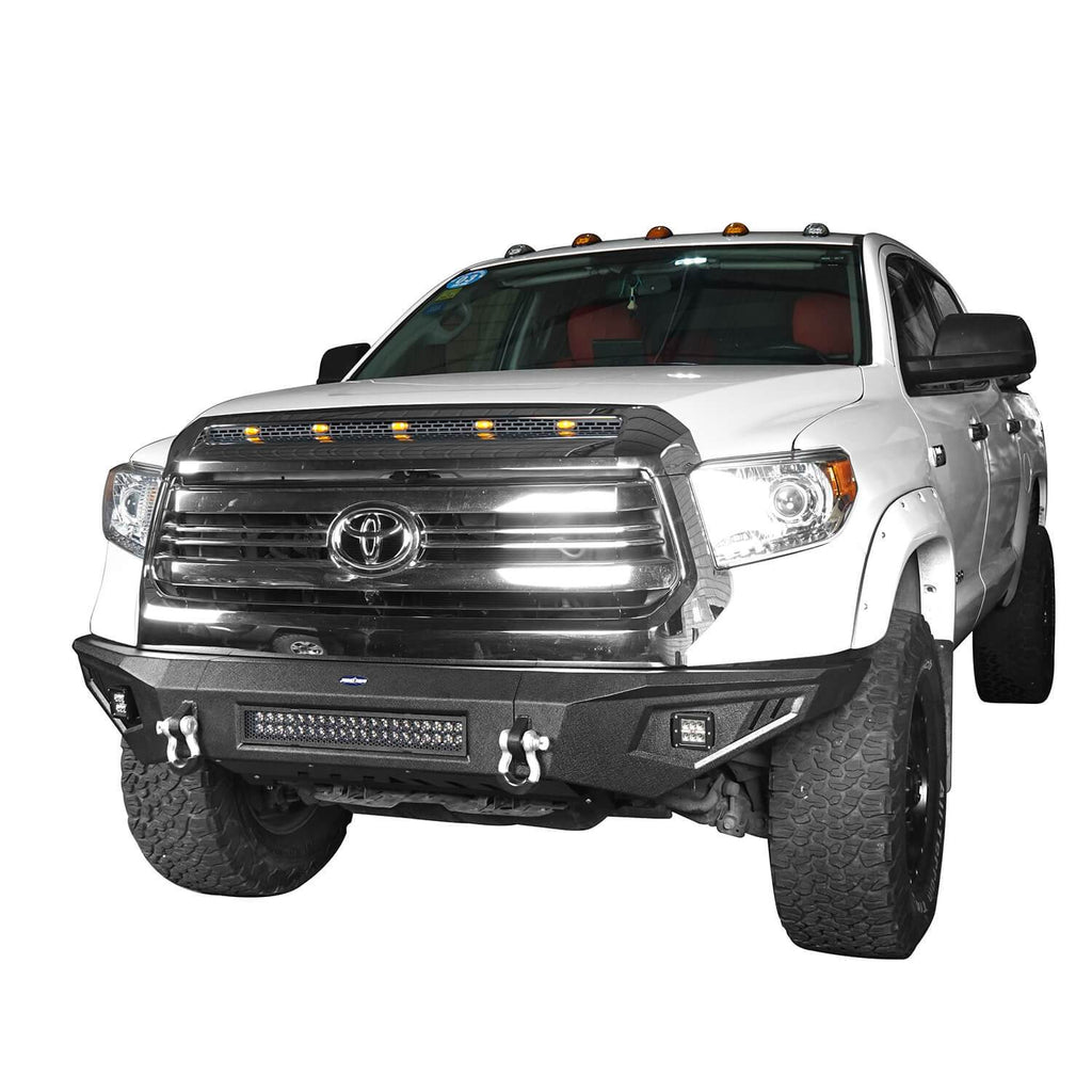 ooke Road Full Width Textured Black Front Bumper for 2014-2019 Toyota Tundra Pickup BXG601   3