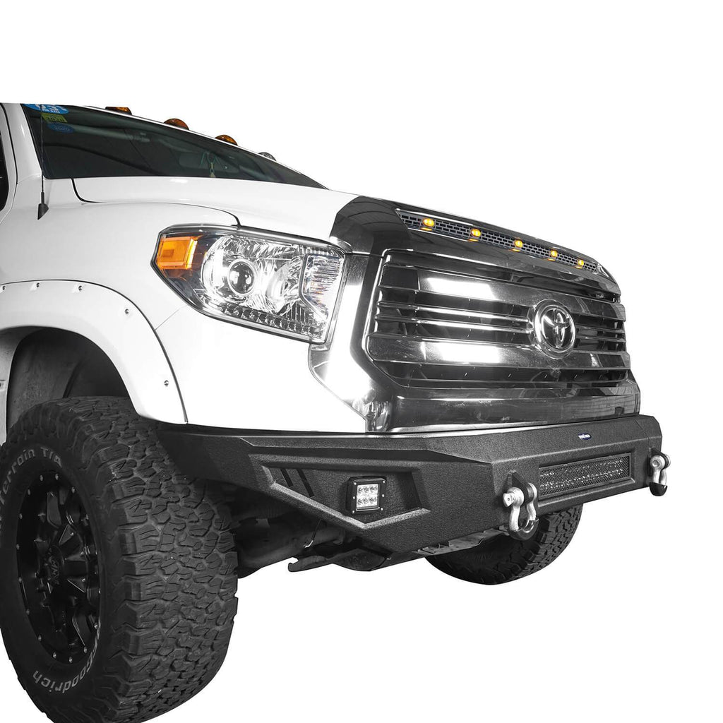 ooke Road Full Width Textured Black Front Bumper for 2014-2019 Toyota Tundra Pickup BXG601   6
