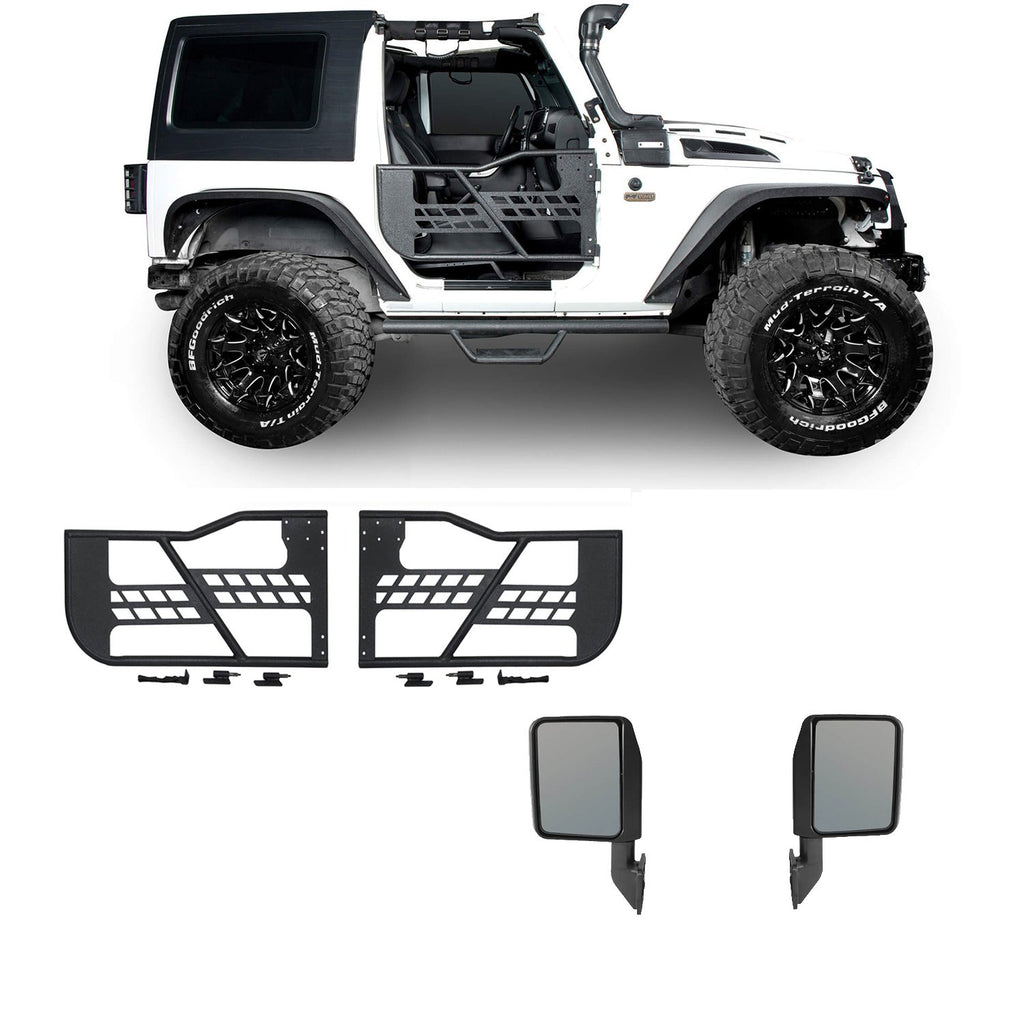 2 Door Tube Doors & Door Hanger Storage(07-18 Jeep Wrangler JK JKU)