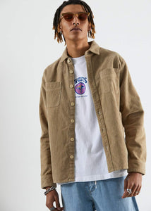 Killer Wale - Corduroy Long Sleeve Shirt in Dirty Beige