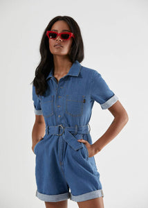 Afends - Voodoo Child Hemp Chambray Playsuit