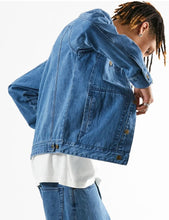 Load image into Gallery viewer, Overtime - Unisex Hemp Denim Jacket