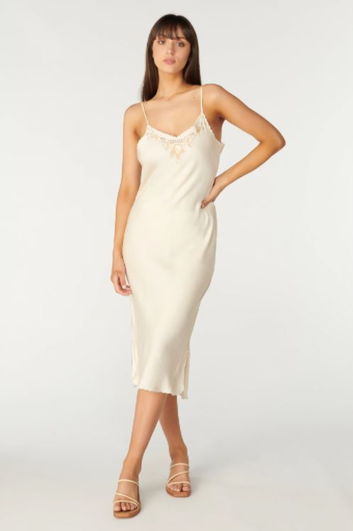 Tigerlily - Santa Teresa Estella Midi Dress - Cream