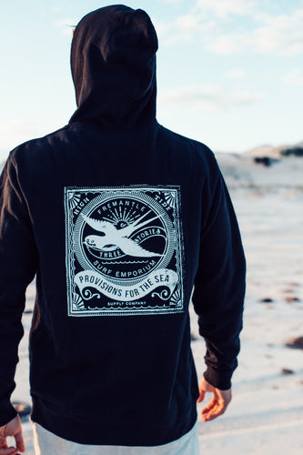 Hoodie Jumper Back. Three Stories Surf Shop