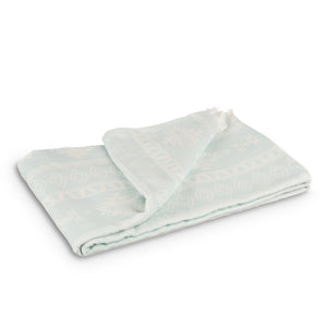 Layday - Vista Ocean & White Organic Cotton Queen Size