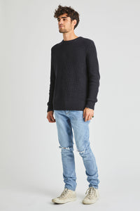 Rollas - Organic Crew Knit Washed Black