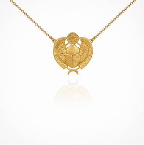 Scarab - Necklace Gold