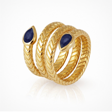Load image into Gallery viewer, Metis - Ring Lapis Gold