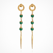 Load image into Gallery viewer, Temple of the Sun - Talia Earrings Gold