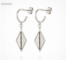 Load image into Gallery viewer, Trinity Sapphire - Earrings Silver