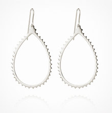 Load image into Gallery viewer, Temple of the Sun - Cassandra Earrings Silver