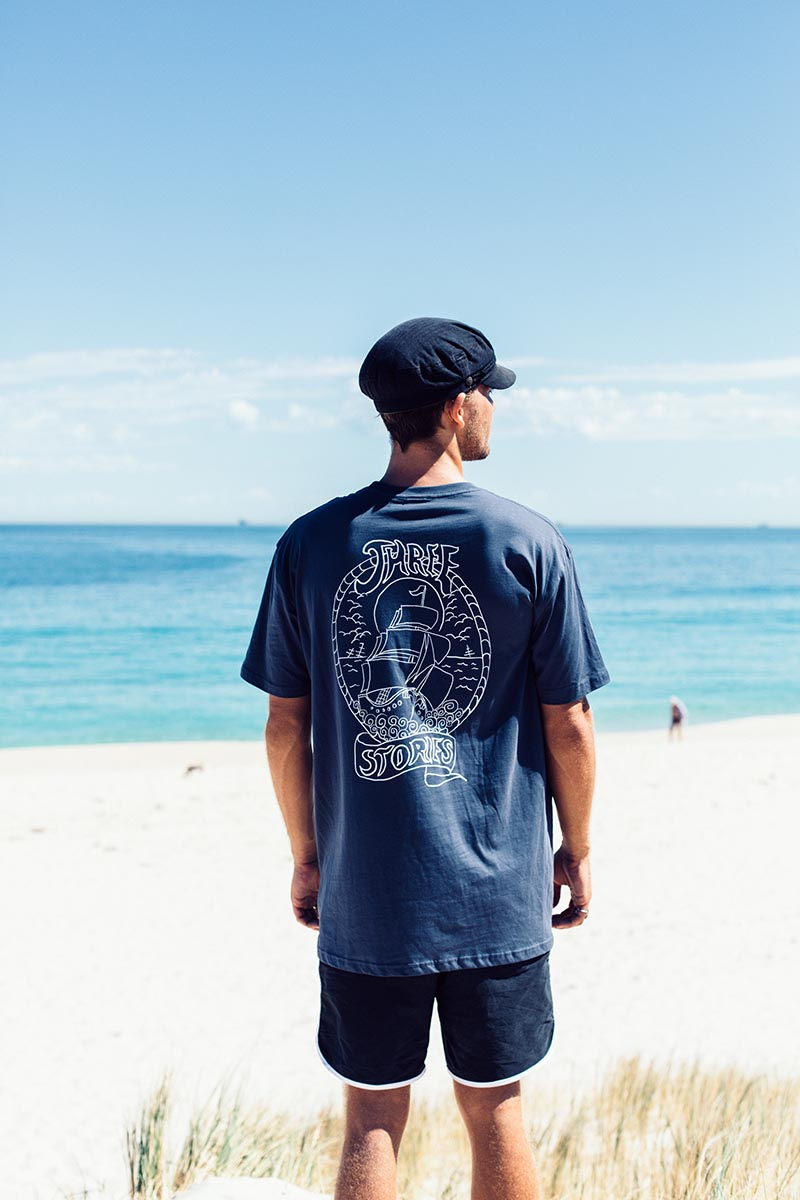 Tall Ship - Petrol Blue - Tee