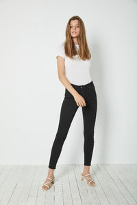 Rollas - Westcoast Ankle Mid Rise Skinny Raven