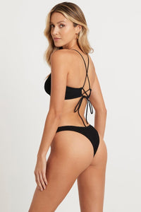 Bound Swim - The Selena Crop - Black