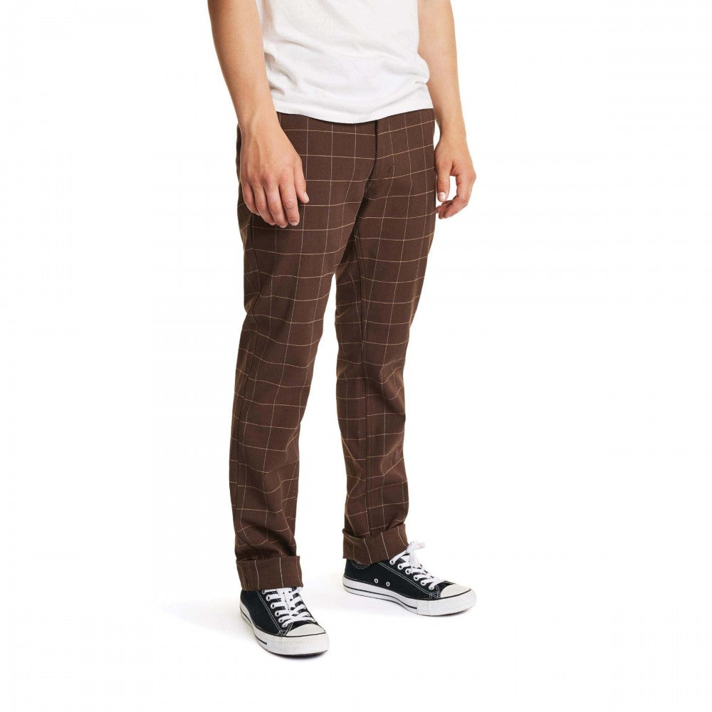 Brixton - Reserve Chino Pant Brown Plaid