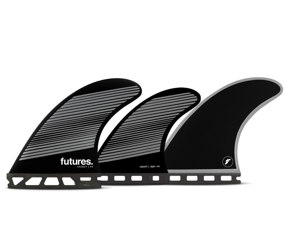 Futures F6 HC 5-Fin Neutral - Grey/Black