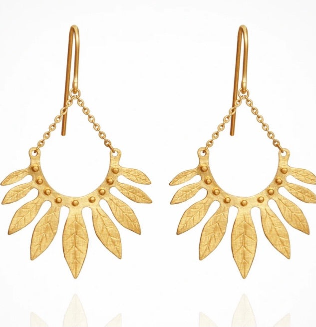 Temple of the Sun - Carissa Earrings Gold