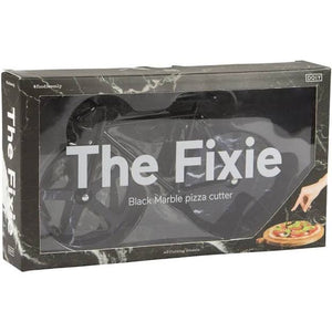 DOIY The Fixie Stone - Black Marble : Pizza Cutter