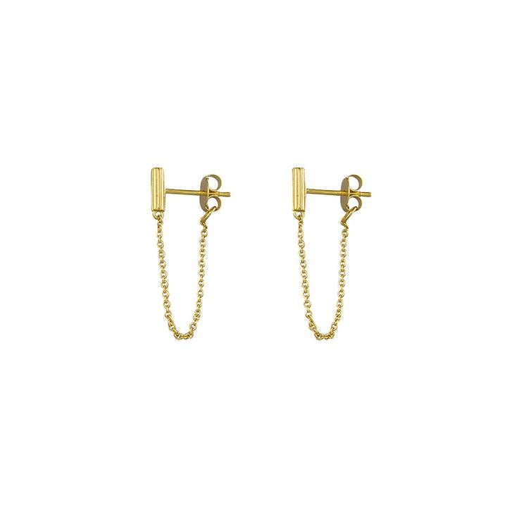 Jolie & Deen - Virginia Chain Earrings Sterling Silver / Gold