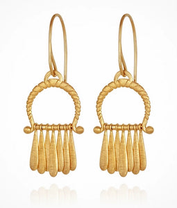 Temple of the Sun - Arc Earrings Gold