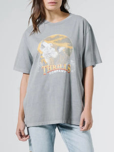 Thrills - Howling Moon Merch Tee - Washed Grey