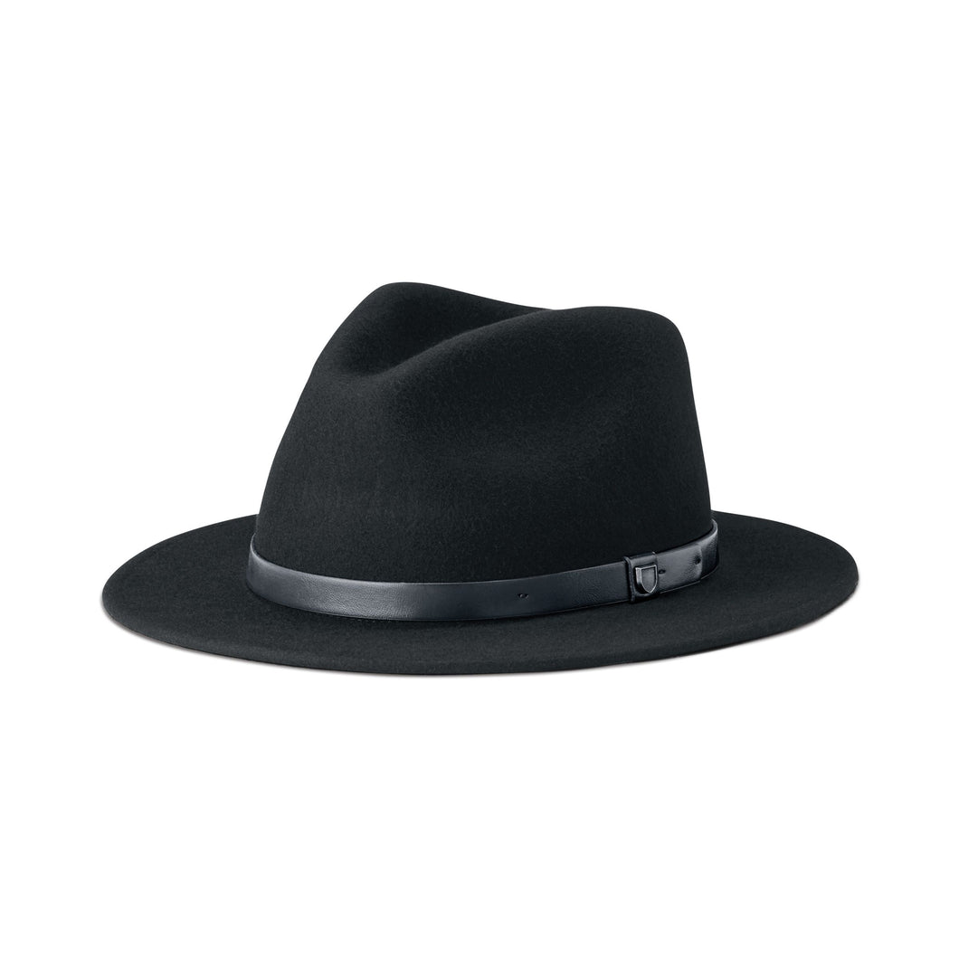 Brixton - Messer Packable Fedora Black