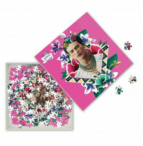 Frida Kahlo Pink Adult Jigsaw Puzzle by Flame Tree