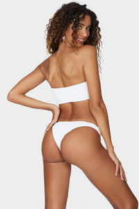 Bound Swimwear - The Sierra Bandeau Top - Optic White