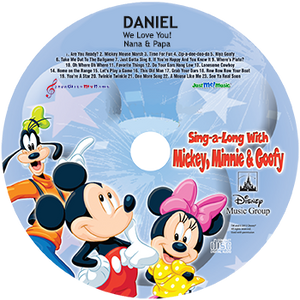 Personalized Mickey Mouse and Friends CD - MyMusicCD.com