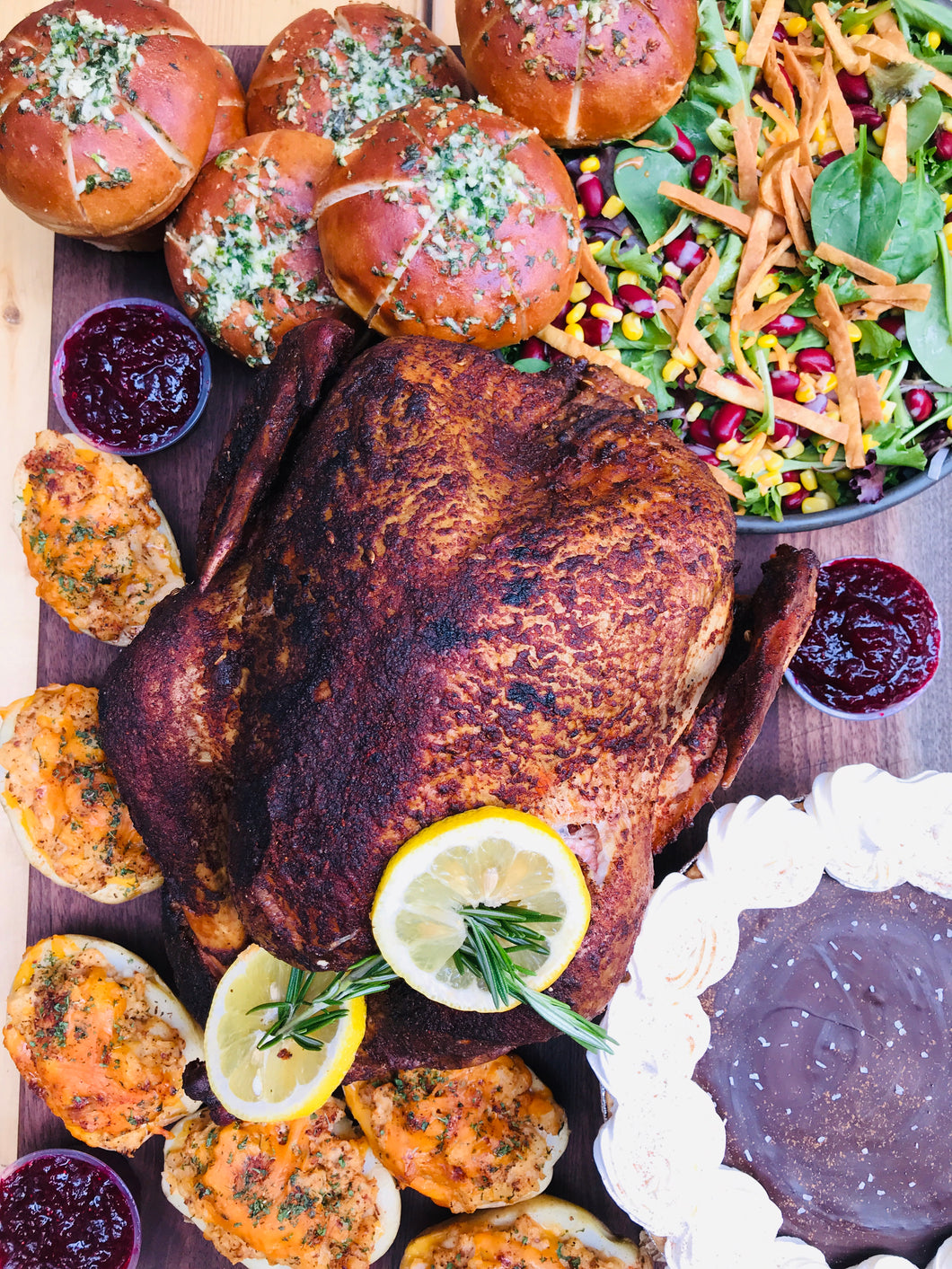 Holiday Smoked Turkey Platter