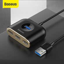 Load image into Gallery viewer, Baseus 4 in 1 USB HUB to USB 3.0 for MacBook Pro/Air USB Splitter 4 Ports Type C HUB forhuawei Matebook Computer Accessories