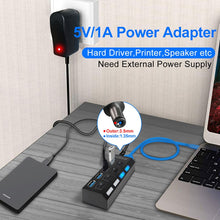 Load image into Gallery viewer, USB 3.0 HUB USB HUB 2.0 Multi USB Splitter USB 3 Hab Use Power Adapter Hub USB 3.0 4/7 Port Expander PC Computer Accessories